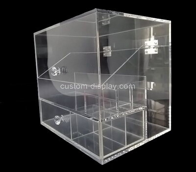 Customize acrylic display case plexiglass organizer with protection cover