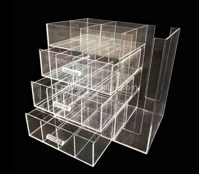 Customize acrylic display case plexiglass drawer organiser