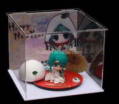 Customize acrylic figure display case plexiglass display box