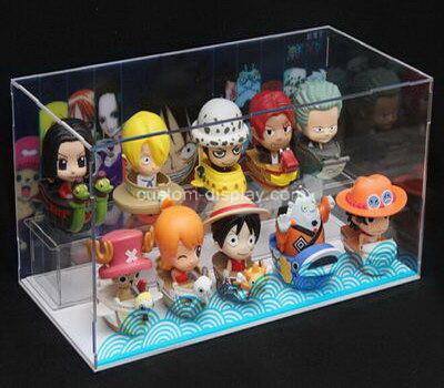 Customize acrylic figures display case lucite display box