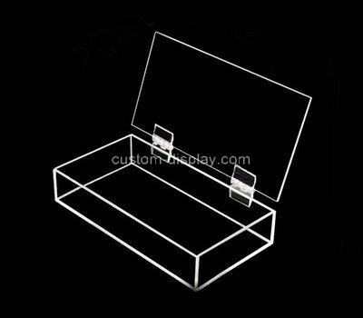 Customize acrylic display case lucite display box with lid