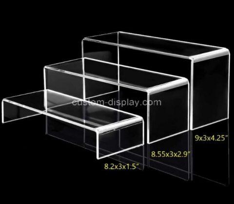 Acrylic manufacturer customize display risers rectangle stands shelf