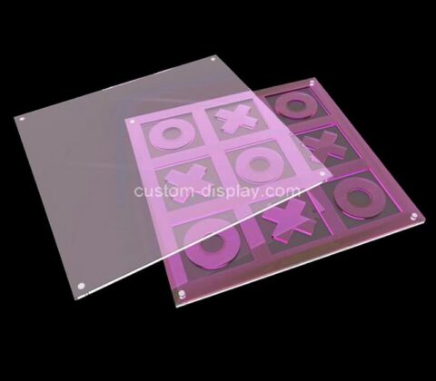 Plexiglass manufacturer customize Tic Tac Toe acrylic XO game board