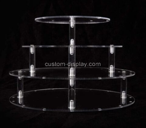 Plexiglass manufacturer customize acrylic cake display stands