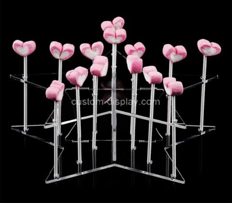 Plexiglass manufacturer customize acrylic marshmallow display stands