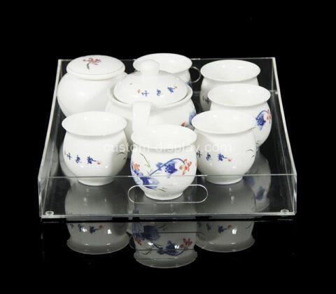 Plexiglass manufacturer customize acrylic serving tray