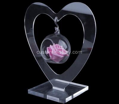 Plexiglass manufacturer customize heart shape acrylic adornments
