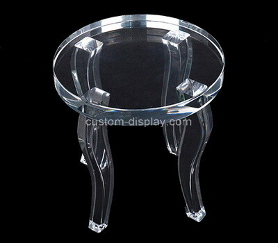 Plexiglass manufacturer customize lucite round coffee table