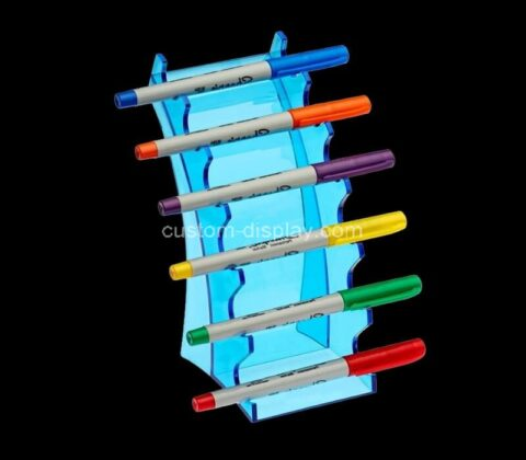 Plexiglass manufacturer customize lucite horizontal 6 Slot pen display stand