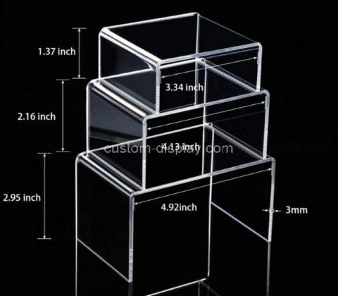 Plexiglass manufacturer customize lucite display risers stand