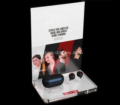 Plexiglass manufacturer customize acrylic earphone holder display stand