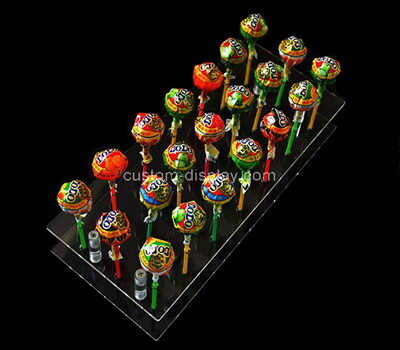 Acrylic manufacturer customize lucite lollipop display holder