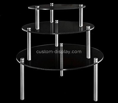 Acrylic manufacturer customize lucite cake and cupcake display holder