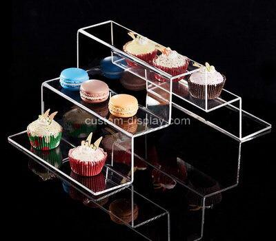 Acrylic manufacturer customize lucite cupcake display risers