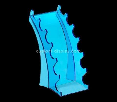 Acrylic manufacturer customize plexiglass 6 slot display stand lucite holder for pen makeup brush