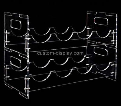 Lucite manufacturer customize acrylic wine bottles display rack perspex wine holder