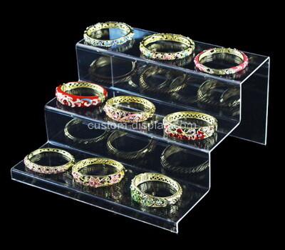 Acrylic manufacturer customize plexiglass bracelets display risers