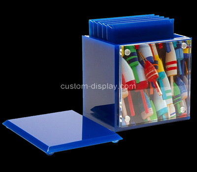 Acrylic manufacturer customize plexiglass cup coasters and coasters holder box