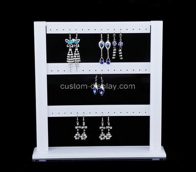 Acrylic manufacturer customize plexiglass earring display stand bar