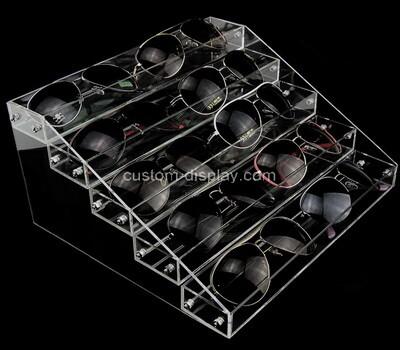 Plexiglass manufacturer customize acrylic sunglasses display risers