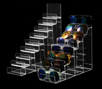 Lucite manufacturer customize acrylic sunglasses display risers