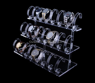 Lucite manufacturer customize acrylic watches display risers