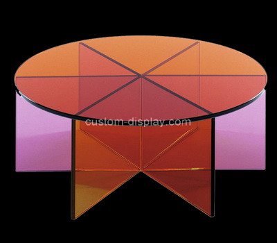 Lucite manufacturer customize round acrylic coffee table plexiglass table