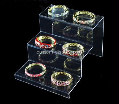 Acrylic manufacturer customize plexiglass bangle display riser perspex display holder