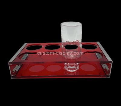 Acrylic manufacturer customize plexiglass shot glass holder tray