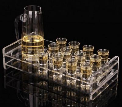 Acrylic manufacturer customize plexiglass shot glass serving tray