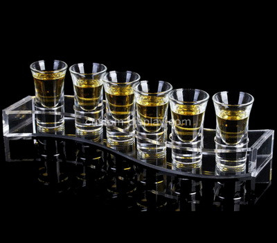 Acrylic manufacturer customize lucite shot glass serving tray holder