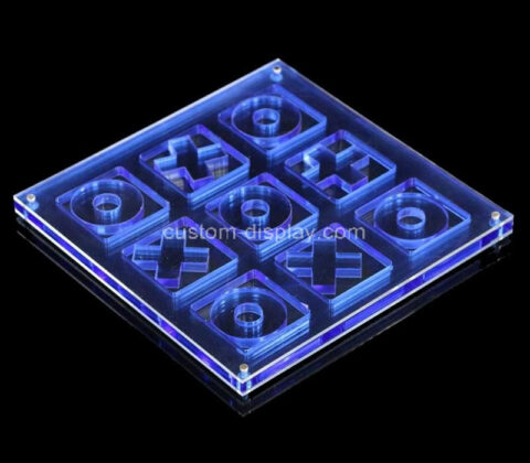 Acrylic manufacturer customize plexiglass Tic Tac Toe board game set
