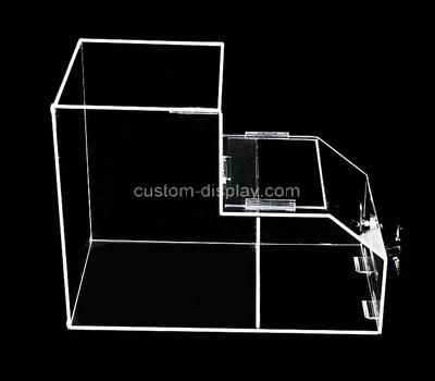 Acrylic manufacturer customize perspex supermarket storage box display case