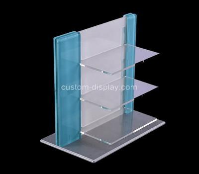 Perspex factory customize acrylic cosmetic display stand plexiglass makeup display rack